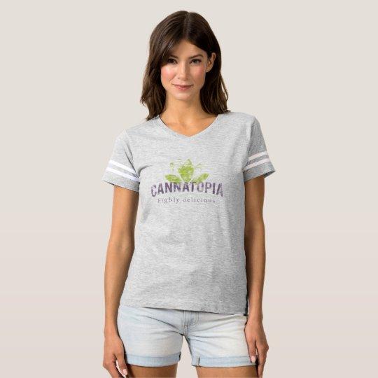Camiseta del logotipo del humo de Cannatopia del
