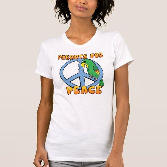 Camiseta del loro de la paz