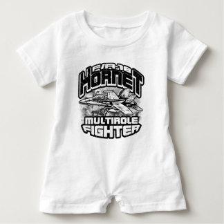 Camiseta del mameluco del bebé del avispón F/A-18