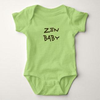Camiseta del mameluco del bebé del zen