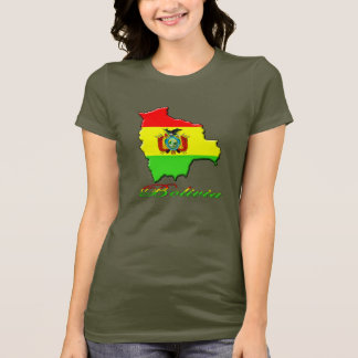 Camiseta del mapa de Bolivia