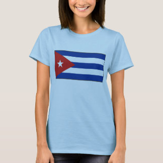 Camiseta del mapa de la bandera x de Cuba