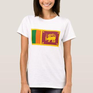 Camiseta del mapa de la bandera x de Sri Lanka
