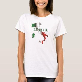 Camiseta del mapa de las señoras Italia