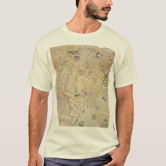 Camiseta del mapa del mundo de Piri Reis