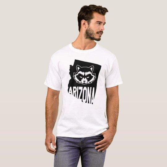 Camiseta del mapache de Arizona