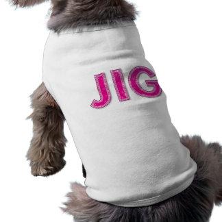 Camiseta del mascota de la plantilla camiseta de perro