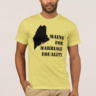 Camiseta del matrimonio homosexual de Maine