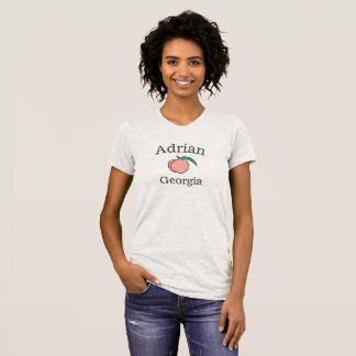 Camiseta del melocotón de Adrian Georgia para las