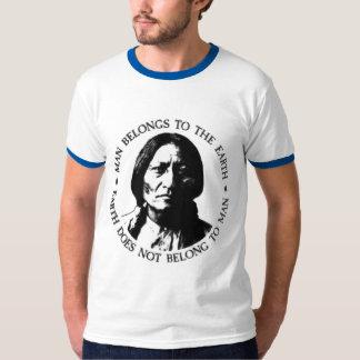 Camiseta del mensaje de la tierra