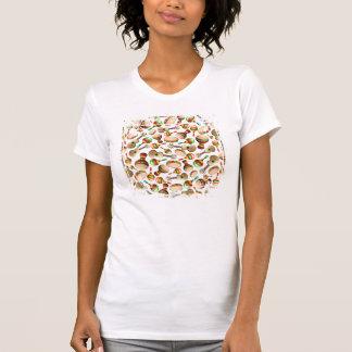 Camiseta del modelo del bongo de Maracas de la