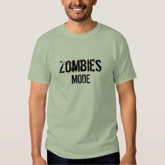 Camiseta del modo de los zombis