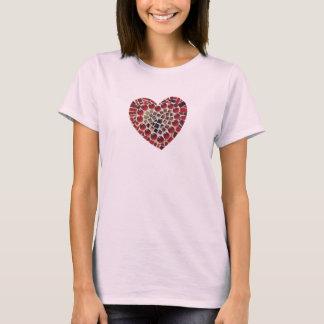 Camiseta del mosaico del corazón