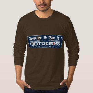 Camiseta del motocrós