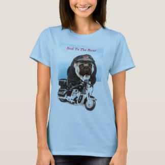 Camiseta del motorista del perro del barro amasado