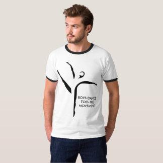 Camiseta del movimiento del too-the de la danza de