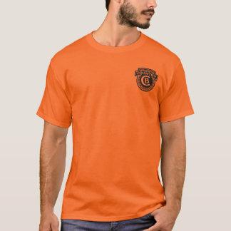 Camiseta del naranja del país del caballo salvaje