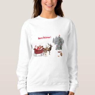 Camiseta del navidad blanco de las NUEVAS mujeres