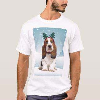 Camiseta del navidad de Basset Hound