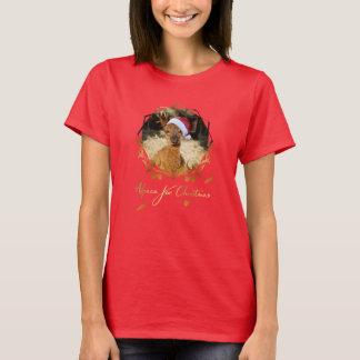 Camiseta del navidad de la alpaca