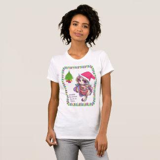 Camiseta del navidad de la diva del unicornio del
