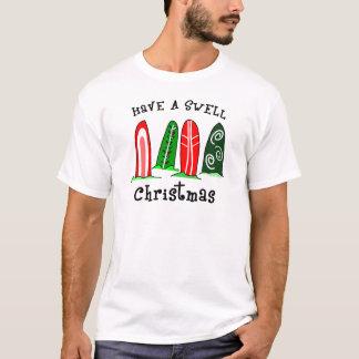 Camiseta del navidad de la persona que practica