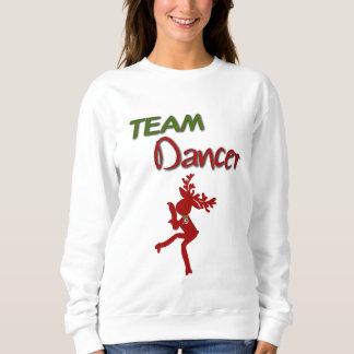 Camiseta del navidad del bailarín del equipo