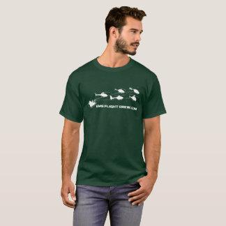 Camiseta del navidad del equipo de vuelo del