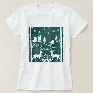 Camiseta del navidad del estilo de Papercut