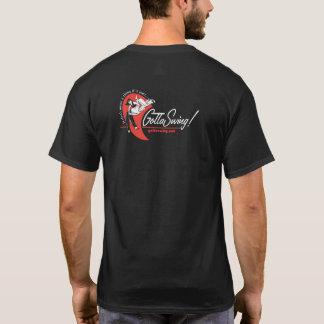 Camiseta del negro de GottaSwing de los hombres