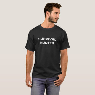 Camiseta del negro del cazador de la supervivencia