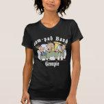 camiseta del negro del groupie de la banda oop-pah