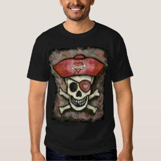 Camiseta del negro del pirata del el día de San Va