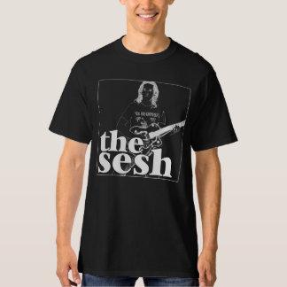 """Camiseta del negro del Sesh de los hombres """"abrigo"""