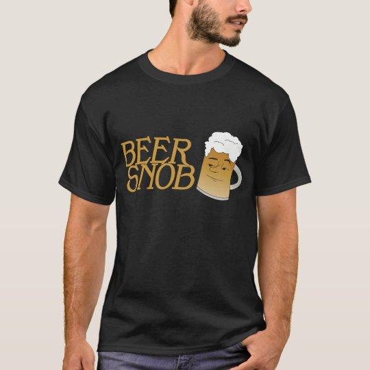 Camiseta del negro del snob de la cerveza