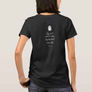 Camiseta del negro del w interior turbulento (del