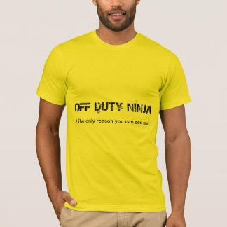 """Camiseta del """"ninja fuera de servicio"""""""