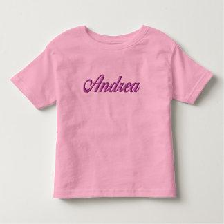 Camiseta del niño de Andrea