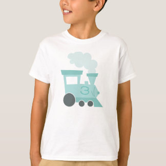 Camiseta del niño de los coches de tren