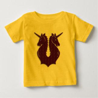 Camiseta del niño de los unicornios del chocolate