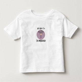 Camiseta del niño de Momma del maratón mis rocas