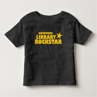Camiseta del niño de Rockstar de la biblioteca de