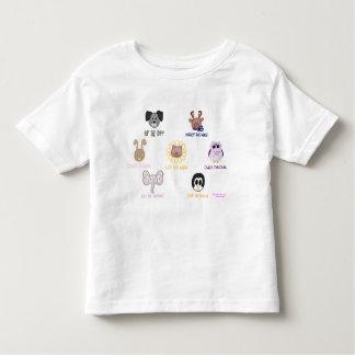 Camiseta del niño del Ani-amigo-imals del bebé de