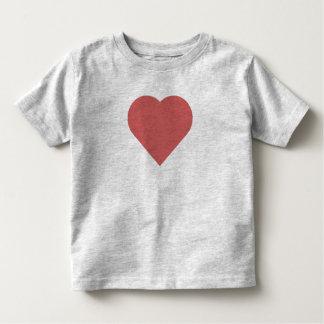 Camiseta del niño del corazón