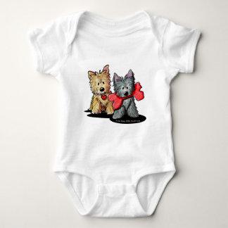 Camiseta del niño del dúo de Terrier de mojón