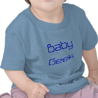 Camiseta del niño del friki del bebé