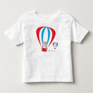 Camiseta del niño del globo del oso de peluche