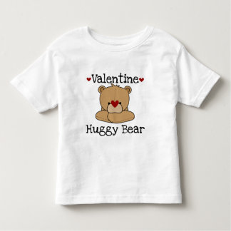 Camiseta del niño del oso de Huggy de la tarjeta