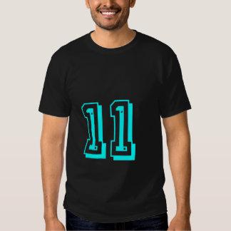 Camiseta del número 11 de la aguamarina