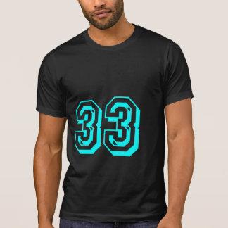 Camiseta del número 33 de la aguamarina